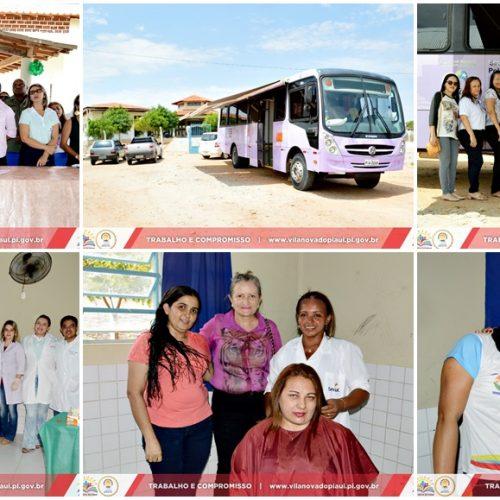 VILA NOVA 22 ANOS   'Ônibus lilás' oferece atendimento às mulheres no povoado São João Batista. Veja fotos!