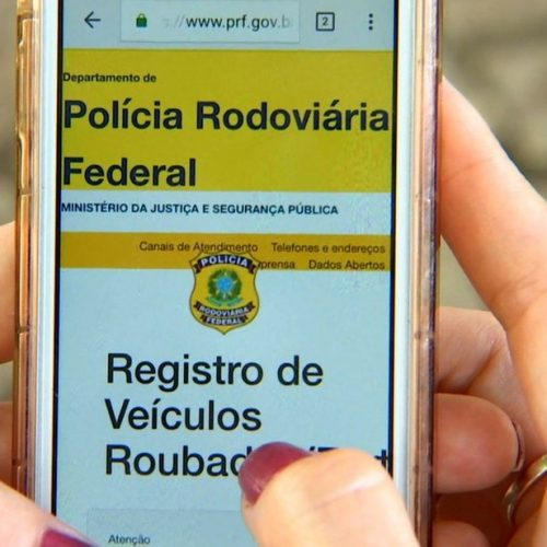 PRF lança sistema que ajudará localizar veículos com ocorrência de roubo ou furto