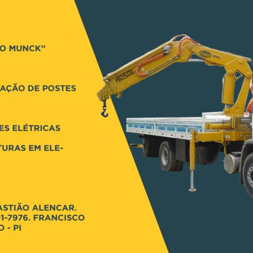 """Precisou de um """"Caminhão Munck""""? Faça a locação com Sebastião Alencar em Francisco Macedo"""