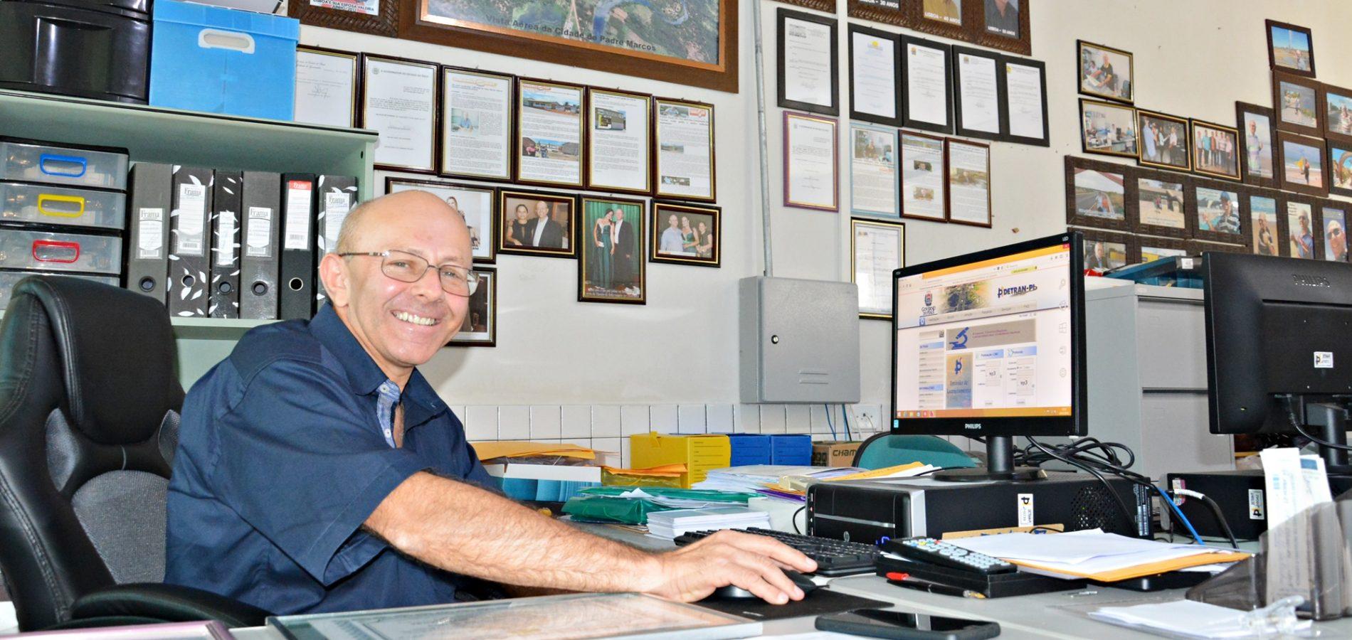 Coordenador faz balanço anual e diz que Ciretran de Padre Marcos se destaca pelo elevado número de veículos regularizados