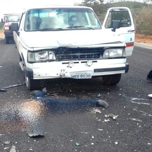 CURRAL NOVO | Homem morre em colisão frontal com camionete D20; veja imagens