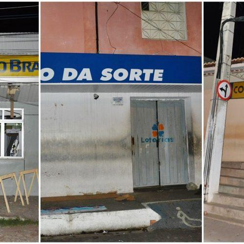 Bando faz arrastão em Jaicós e arromba Banco do Brasil, Lotérica e Correios