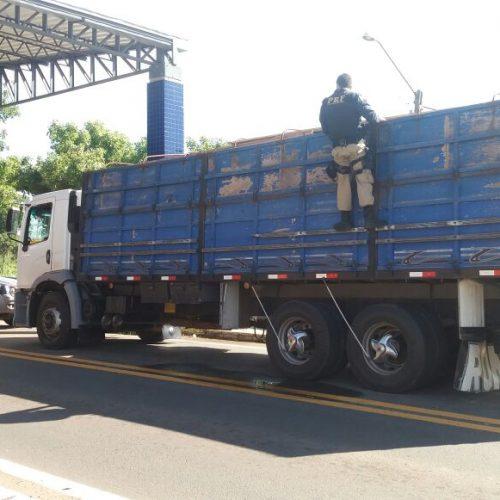 PRF apreende quase 29 toneladas de madeira ilegal no Piauí