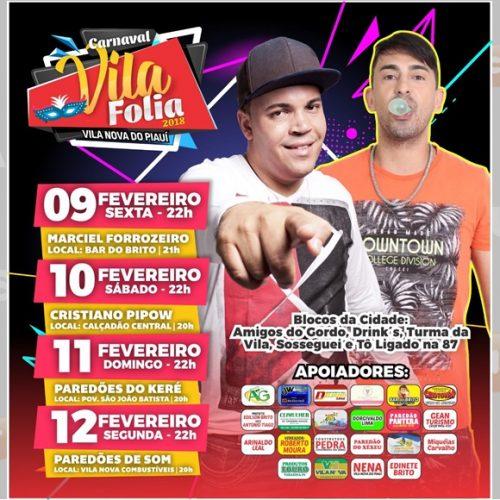 Em Vila Nova, Blocos carnavalescos anunciam a programação comemorativa do 'Vila Folia 2018'