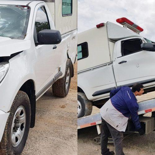 Ambulância de Jacobina do Piauí se envolve em acidente na BR 316
