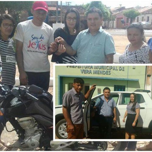 Prefeito de Vera Mendes faz entrega de veículos para Secretarias Municipais