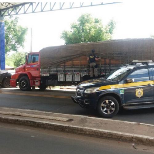 PRF apreende 34 toneladas de madeira ilegal no Piauí
