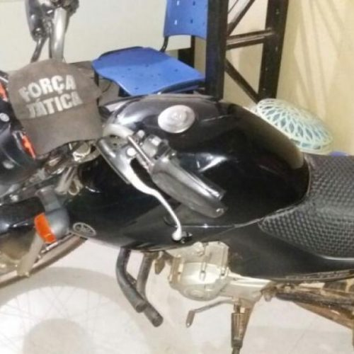 Mulher é suspeita de roubar moto no bairro Junco; Veículo foi recuperado