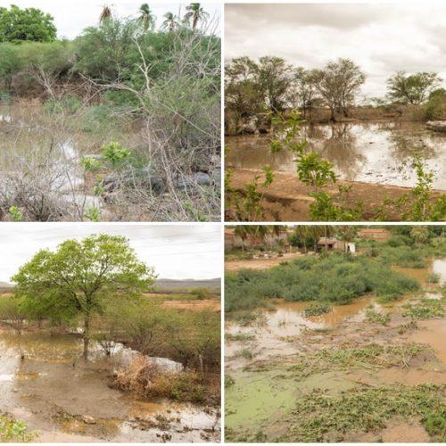 Chuva forte registra 90 milímetros em Fronteiras e acumula água em açudes e barreiros; fotos