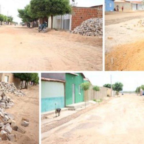 Prefeitura investe na pavimentação de ruas e inicia obras de 10 mil m² de calçamento em Campo Grande do Piauí