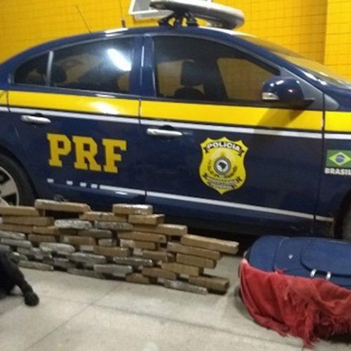 Mulher é presa dentro de ônibus com 26 kg de maconha no Piauí