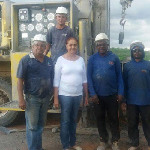 FRONTEIRAS   Prefeita Maria José perfura poço tubular na comunidade São Gonçalo