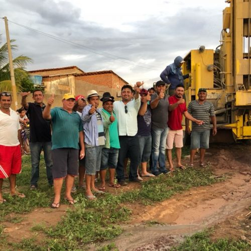 Prefeito Márcio Alencar inicia maratona de perfuração de mais 4 poços em Alegrete do Piauí