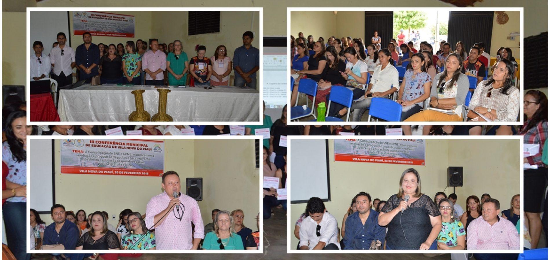 Vila Nova do Piauí debate o Plano Municipal de Educação em III Conferência Municipal; veja fotos