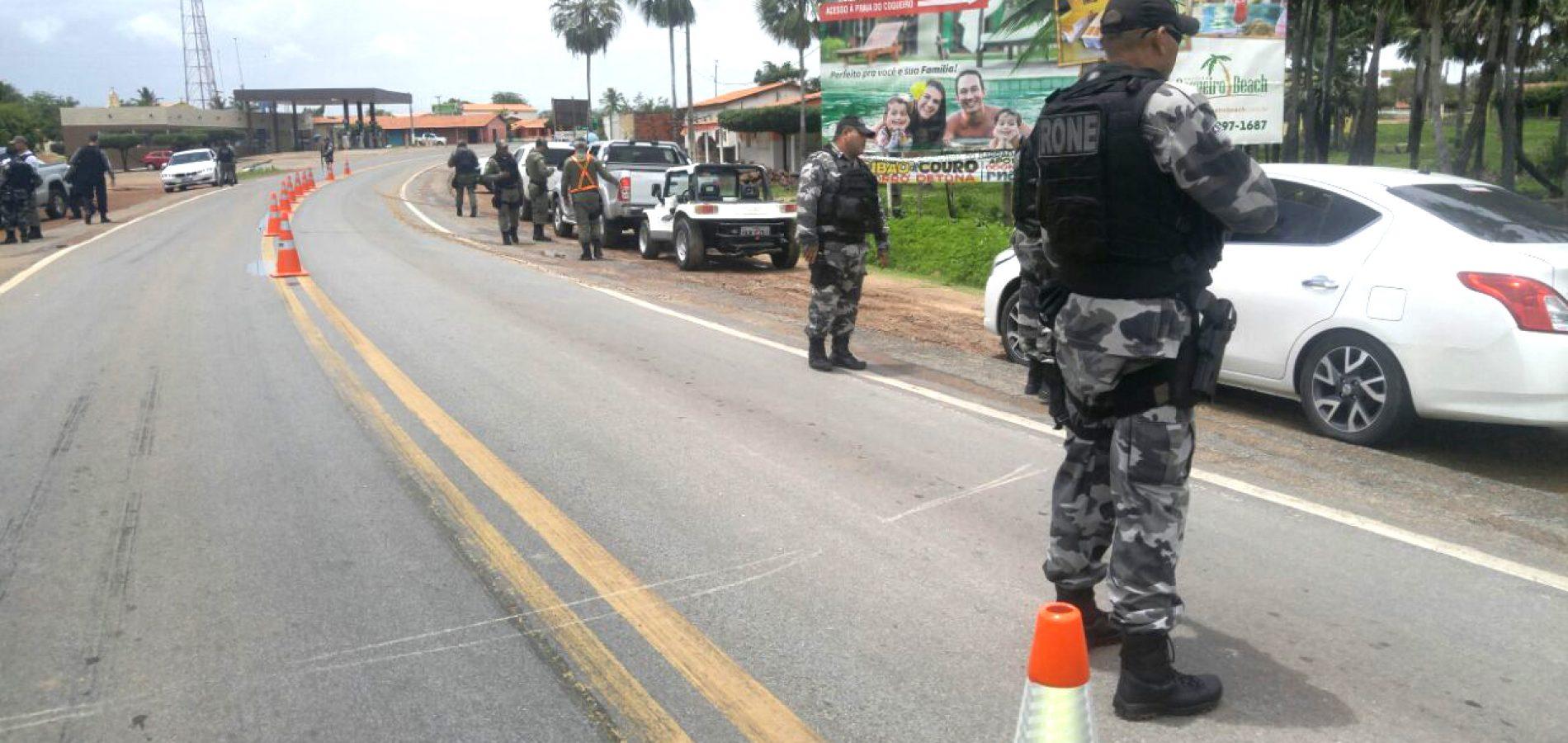 Polícia realiza barreiras para evitar entrada de armas no Piauí