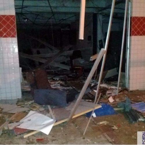 Quadrilha fortemente armada explode agência do Bradesco no Norte do Piauí