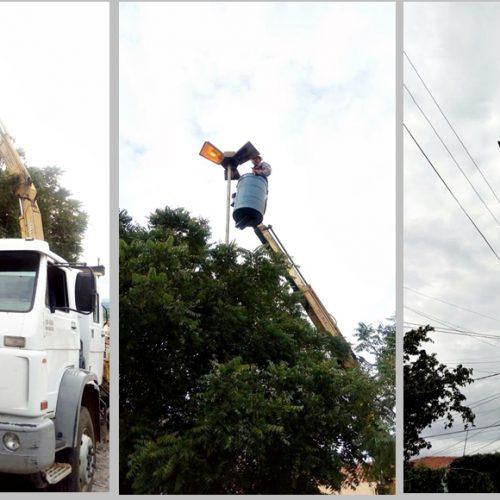 Prefeitura de Francisco Macedo faz reposição de lâmpadas em postes nas avenidas da sede