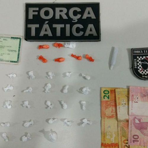 Homem é preso por tráfico de drogas no Morro da Macambira em Picos