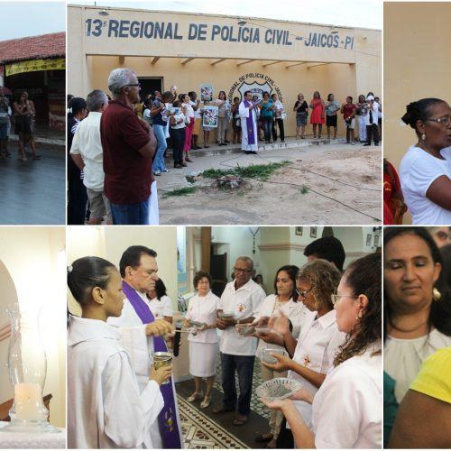 Procissão e missa marcam início da Quaresma e lançamento da CF 2018 em Jaicós