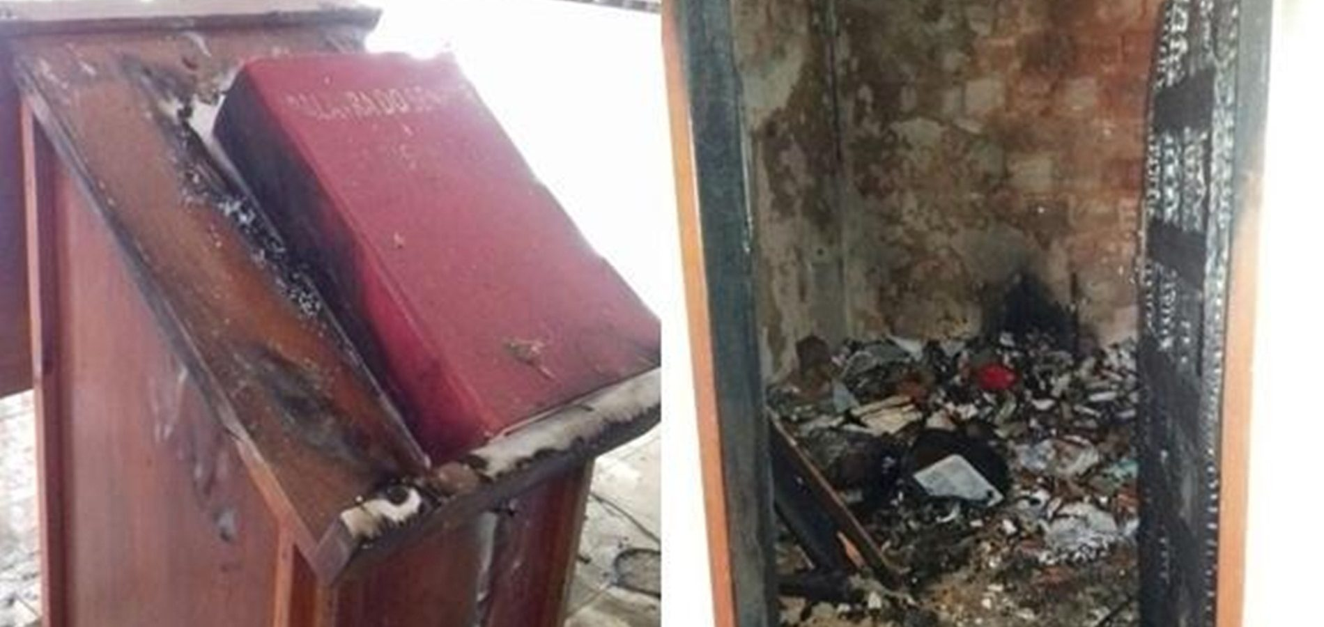 """Resultado de imagem para Bandidos incendeiam igreja no PI; bispo repudia, """"ato profano"""""""