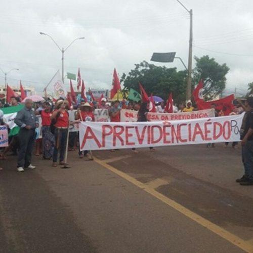 Mobilização contra a Reforma da Previdência é realizada em Picos