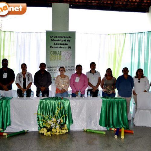 3ª Conferência Municipal de Educação é realizada em Fronteiras e debate SNE e o PNE; veja fotos
