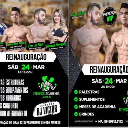 Fitness Academia será reinaugurada neste sábado em Jaicós