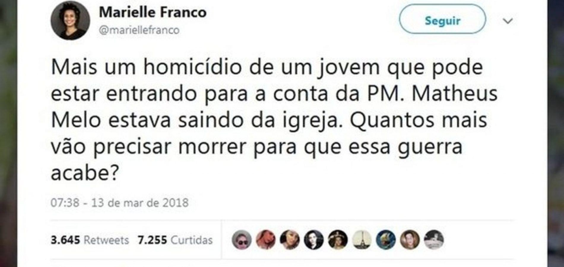 Vereadora fez post na web um dia antes de ser assassinada no RJ; 'Quantos mais precisarão morrer?', postou ela