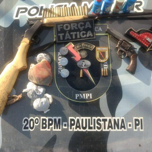 Armas e munições são apreendidas no povoado Bate Maré em Paulistana