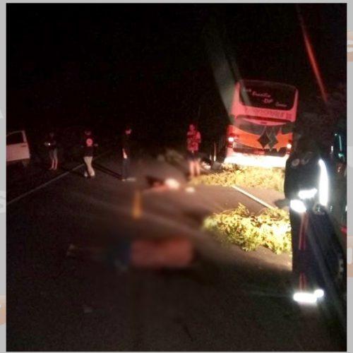 Duas pessoas morrem após colisão de ônibus e carro em rodovia no Sul do Piauí