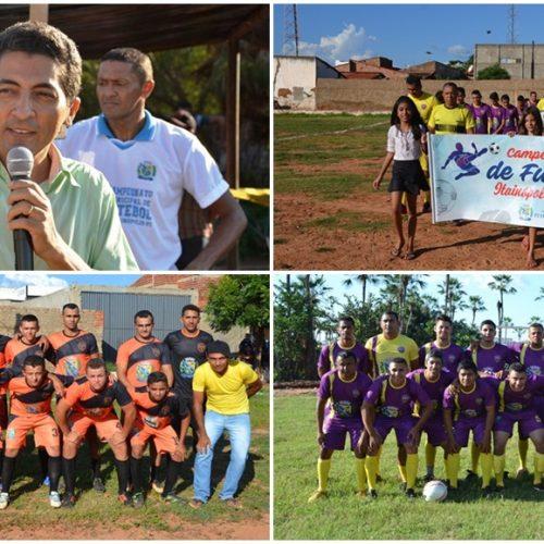 Prefeitura de Itainópolis abre oficialmente 6º Campeonato Municipal