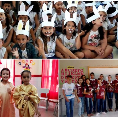Escolas de Vila Nova celebram a páscoa e distribuem ovos de chocolate para os alunos