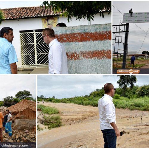 Prefeito de Jaicós visita obras em andamento no município