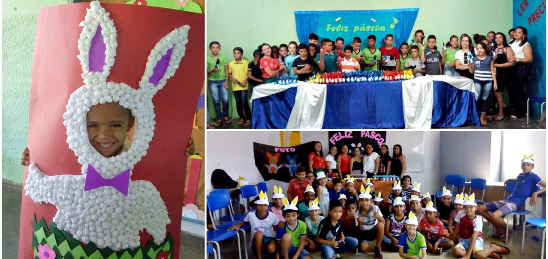 Prefeitura de Vera Mendes distribuiovos de páscoa para alunosda rede municipal