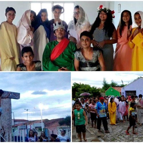 Jovens da Igreja Católica encenam a Paixão de Cristo em Alegrete do Piauí