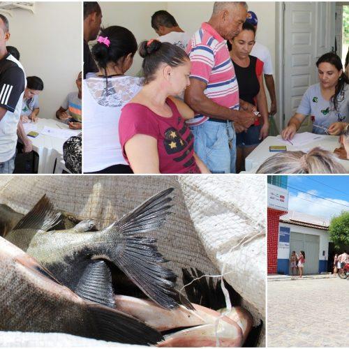 Prefeitura de Caridade distribui 3 mil kg de peixe e beneficia todas as famílias do município