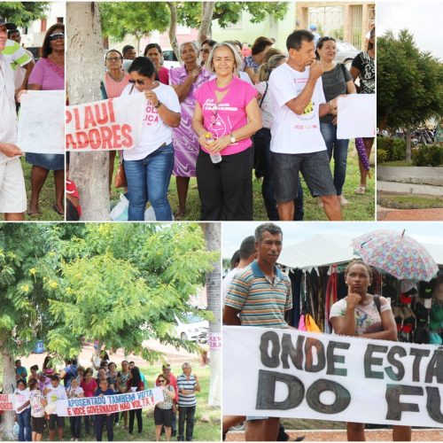 JAICÓS | Trabalhadores em educação realizam manifestação em praça pública e reivindicam valorização da categoria