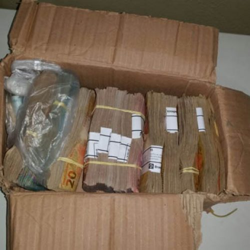 Polícia apreende R$ 33 mil com lacres de banco no interior de Monsenhor Hipólito; suspeito fugiu