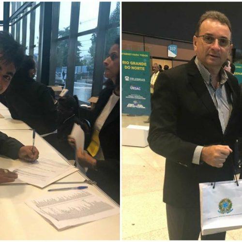 Prefeito Márcio Alencar assina em Brasília adesão ao programa 'Internet para Todos'