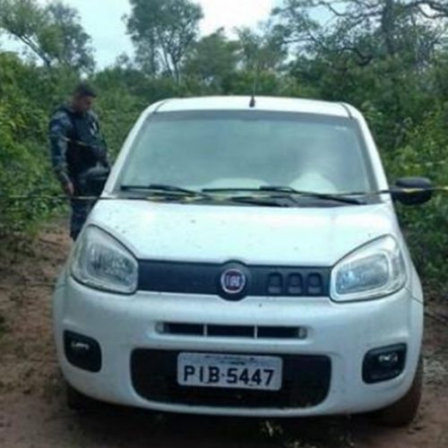 PM localiza veículo supostamente utilizado por bando que assaltou banco de Inhuma