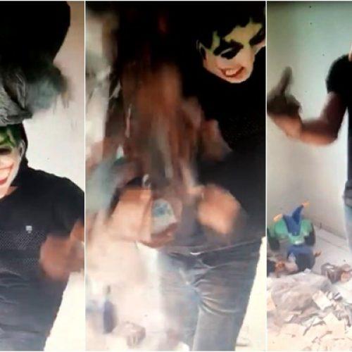 Após roubo ao banco de Inhuma, criminosos fazem vídeo com 'chuva' de dinheiro