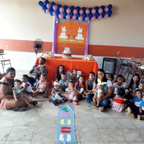 Assistência Social de Patos comemora Páscoa com usuários do programa Criança Feliz