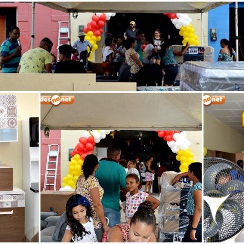 Patrício inaugura loja de móveis e eletros em Alegrete do Piauí; veja fotos