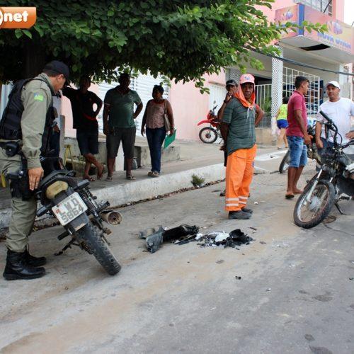 Colisão entre motocicletas deixa duas pessoas feridas em Jaicós