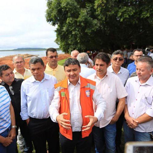 Governador visita barragem em José de Freitas e nega omissão do Estado