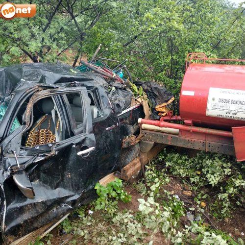 Grave acidente deixa 6 pessoas feridas na BR 407 próximo a Paulistana