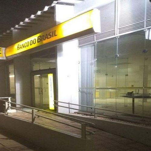 Bandidos não encontraram dinheiro na agência do Banco do Brasil
