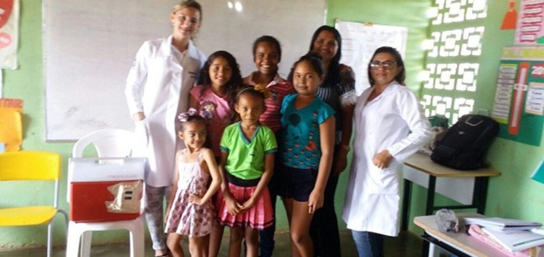 Secretaria de Saúde de Vera Mendes realiza campanha de vacinação contra o HPV e Meningite C