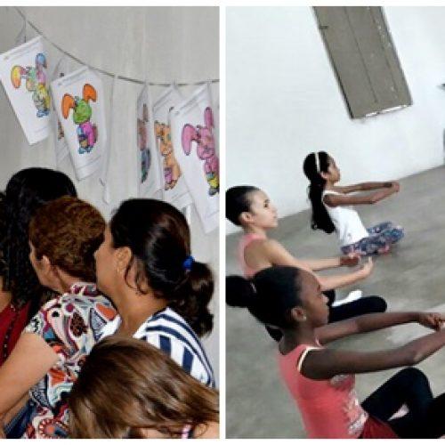 Secretaria de Assistência Social de Vila Nova realiza aula inaugural de ballet