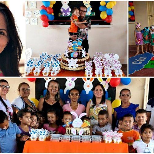 Prefeitura de Patos comemora Páscoa com alunos da Educação Infantil